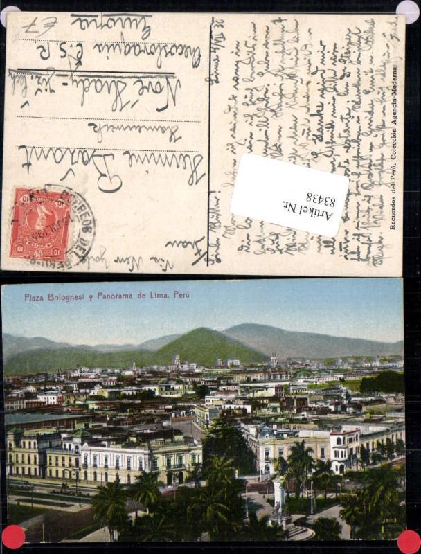 83438,Plaza Bolognesi & Panorama de Lima Peru