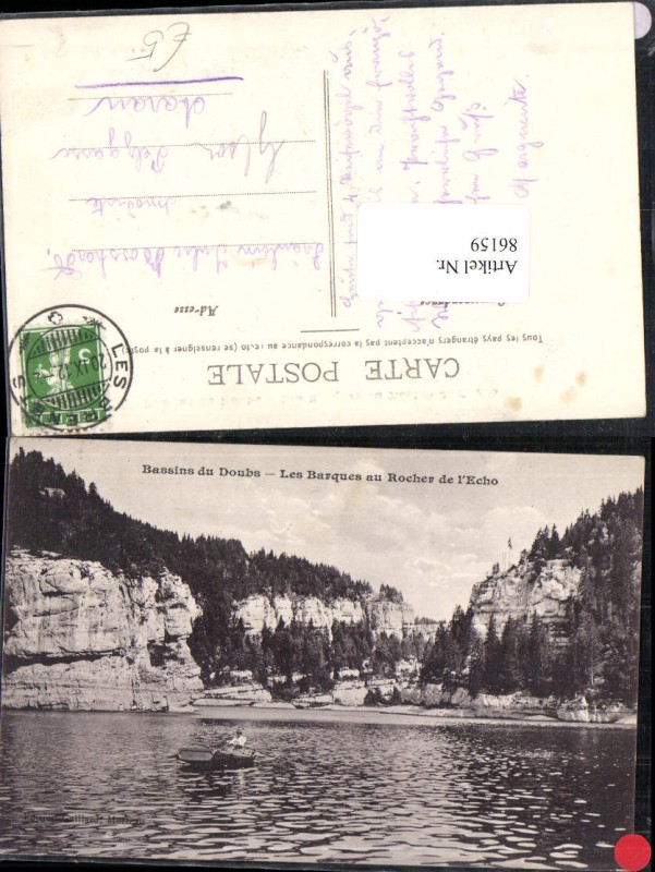 86159,Bassins du Doubs Les Barques au Rocher de l´Echo Kt Jura