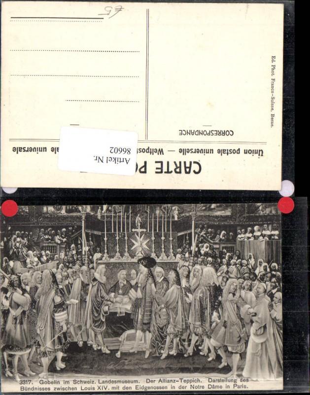 86602,Gobelin im Schweizer Landesmuseum Der Allianz Teppich Kt Bern