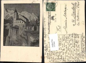 137564,Bergkapelle Mundgezeichnet Erich Stegmann