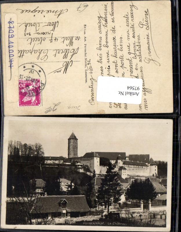 97564,Porrentruy Le Chateau Pruntrut Ortsansicht Kt Jura