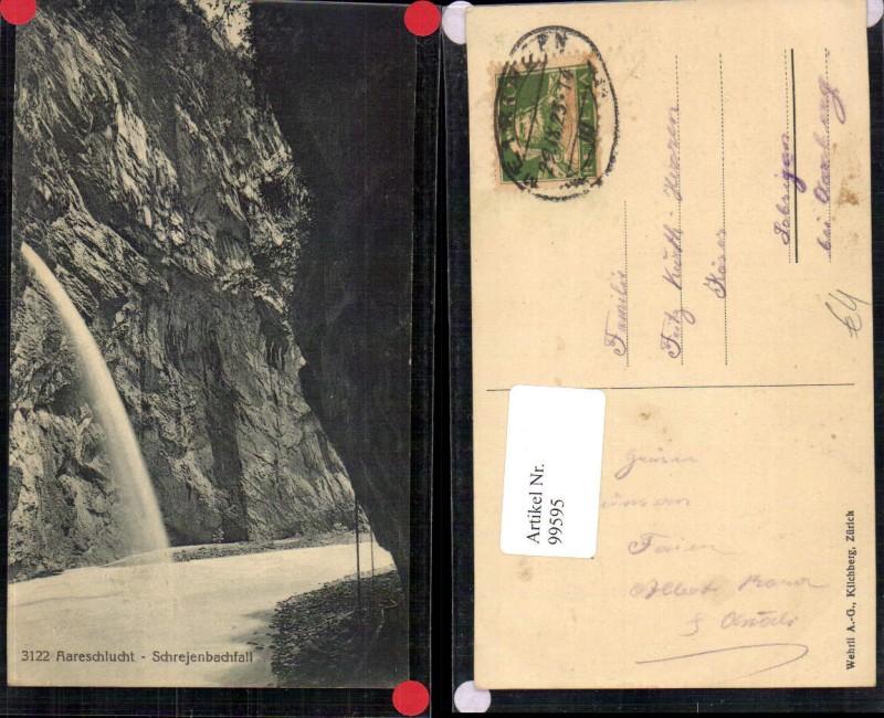99595,Aareschlucht Schrejenbachfall bei Meiringen Kt Aargau