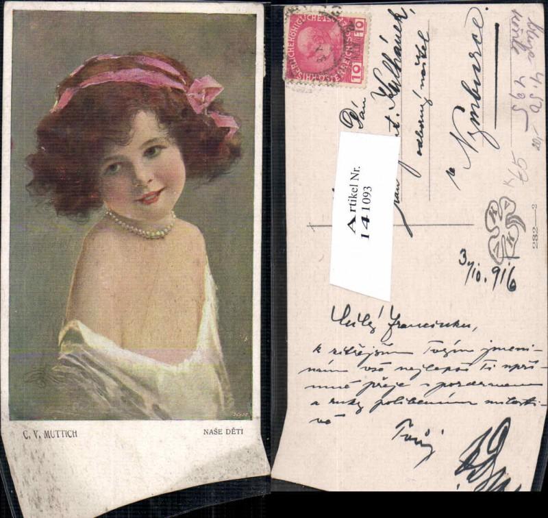 141093,C.V. Muttich Tolle Mädchen Portrait halskette