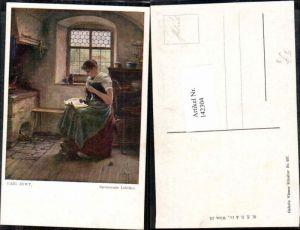 142304,Carl Zewy Spannende Lektüre Frau liest Buch