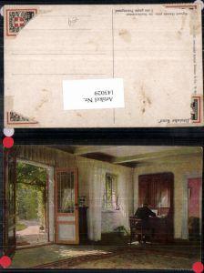 143029,Dänische Kunst Sigvard Hansen Studierzimmer