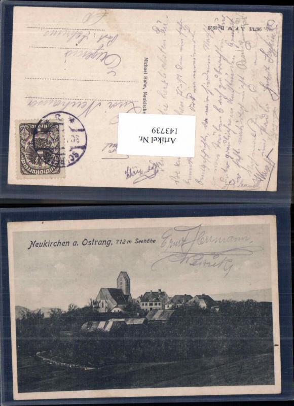 143739,Neukirchen a. Ostrong Ostrang 1920