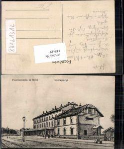 145419,Pozdrowienia ze Stroz Bahnhof Restaurant Nowy Sacz Galizien Karpathen Eisenbahn