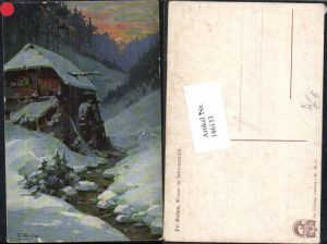 146133,Fr. Reiss Winter im Schwarzwald Mühle Joh. Elchlepp Freiburg im Breisgau Nr 10