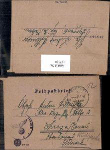 147388,WW2 WK2 Feldpost Anton Hillinger 1943 FP L49990E Posen