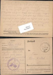 147399,WW2 WK2 Feldpost Elise Wollock 03727 C nach Wien 16
