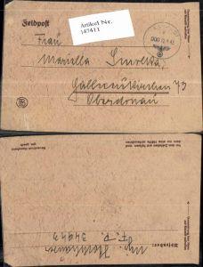 147411,WW2 WK2 Feldpost Mariella Smelka Gallneukirchen v. FP 34943 Hochhauser Major