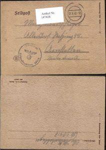 147428,WW2 WK2 Feldpost Halbartschlager Allersdorf Amstetten Ratzing