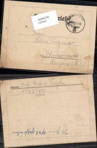 147435,WW2 WK2 Feldpost Franz Pregler 29710 Helene Pregenzer Blindenmarkt Amstetten