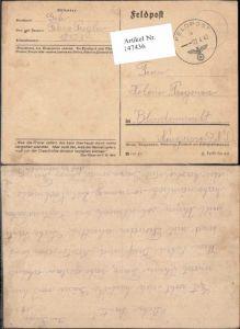 147436,WW2 WK2 Feldpost Franz Pregler 12323 Helene Pregenzer Blindenmarkt Amstetten