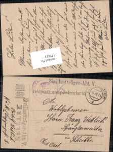 147813,K. K. Feldpost 8 Zivillasträger Abt. V 5 n. Scheibbs