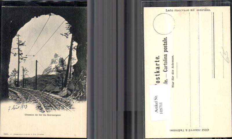 105711,chemin de fer du Gornergrat Eisenbahn Gleise Tunnel 1903 Kanton Jura
