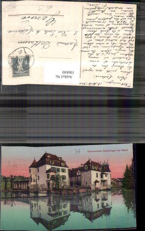 106840,Schlosshotel Bottmingen bei Basel 1920Kanton Basel-Land