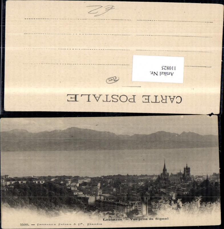 110825,Lausanne Vue prise du Signal Kanton Waadt 0