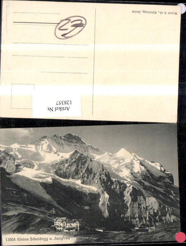 128357,Kleine Scheidegg u. Jungfrau Ansicht Kt. Bern