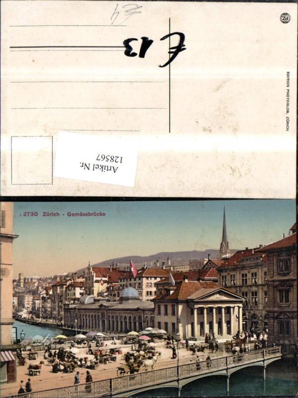 128567,Zürich Gemüsebrücke Ansicht Kt. Zürich