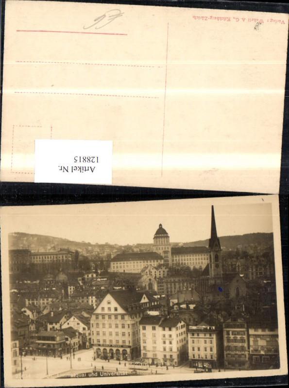 128815,Zürich Limmatquai u. Universität Kt. Zürich