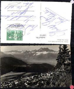 130712,Leysin les Dents du Midi et la plaine du Rhone Ansicht Kt. Waadt