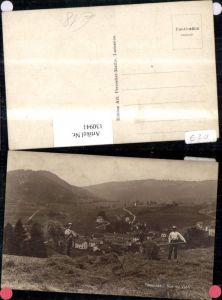 130941,Tavannes Vue du Vion Ansicht Männer Heuernte Kt. Waadt