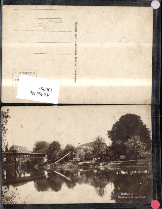 130967,Thiele Restaurant du Pont Ansicht Brücke Kt. Waadt