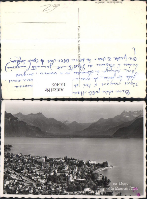 131405,Vevey et les Dents du Midi Ansicht Kt. Waadt