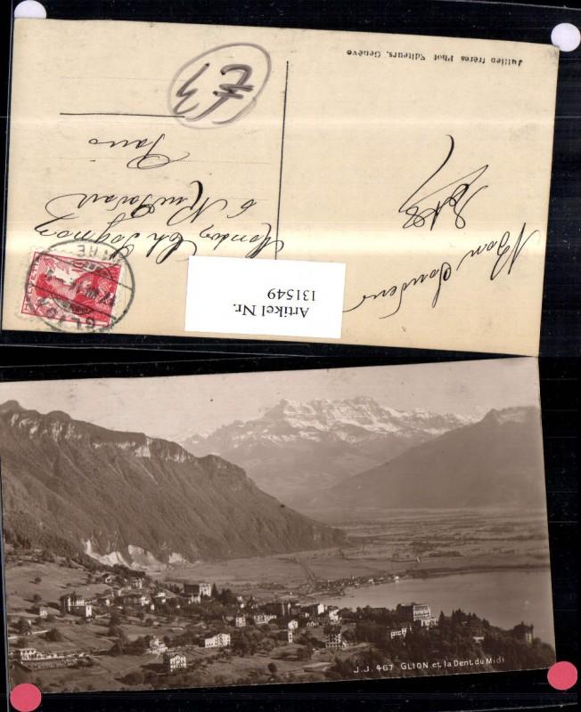 131549,Glion et la Dent du Midi Ansicht 1914 Kt. Waadt