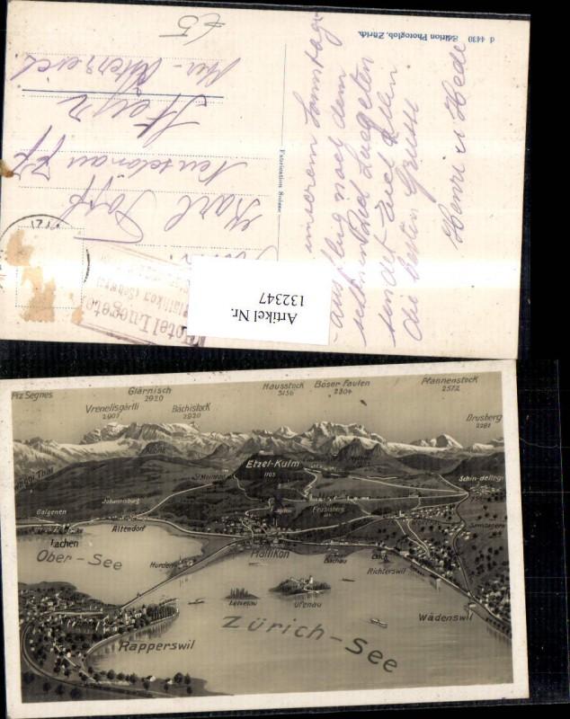 132347,Zürichsee Lagekarte Kt. St Gallen