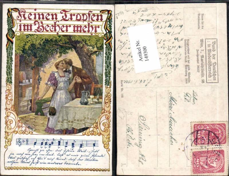 149300,Bund d. deutschen in Niederösterreich 148 Ezel signiert