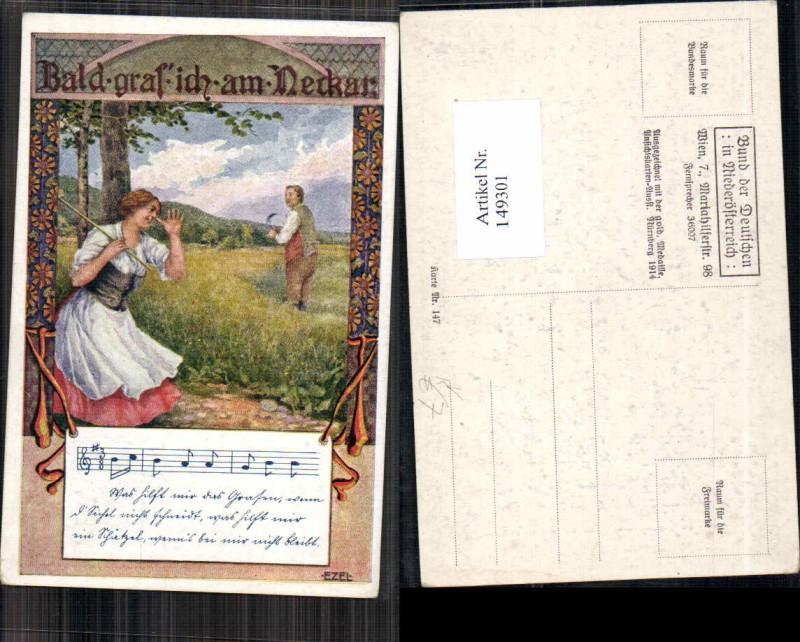 149301,Bund d. deutschen in Niederösterreich 147 Ezel signiert