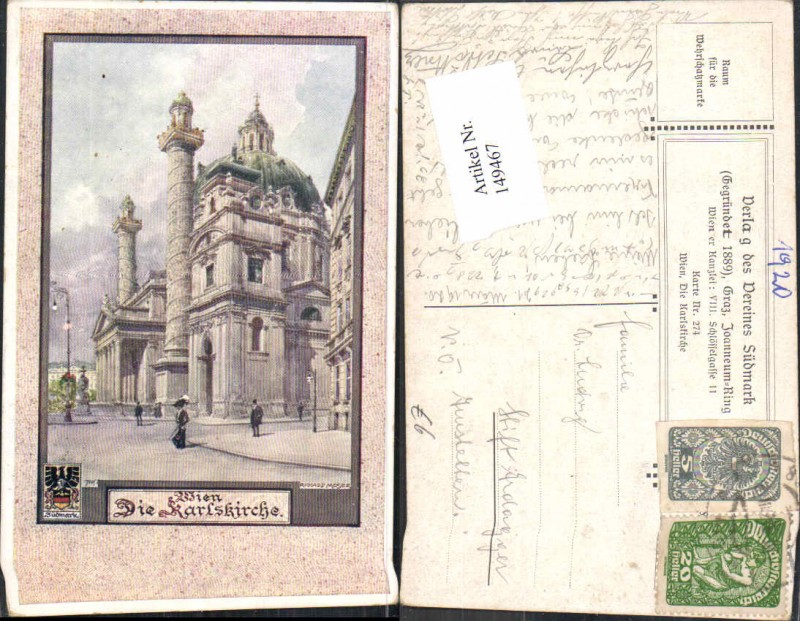 149467,Verein Südmark 274 Wien Richard Moser