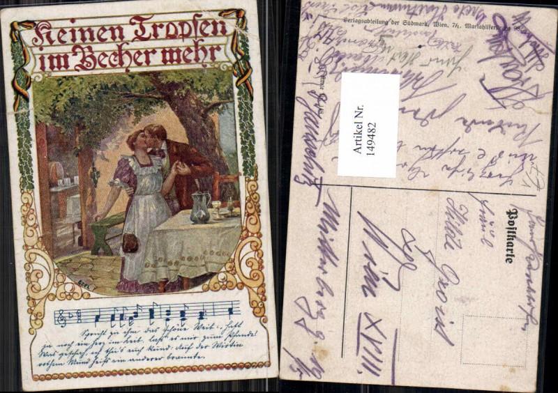 149482,Verein Südmark 148 Ezel Wein Mann küsst Frau