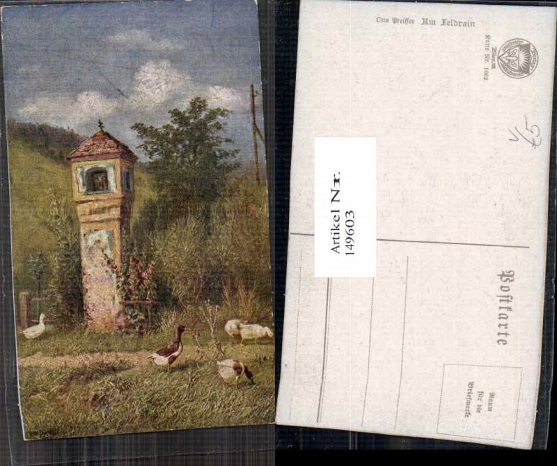 149603,Dt Schulverein 1062 Otto Pfeiffer Am Feldrain Marterl Wegkreuz