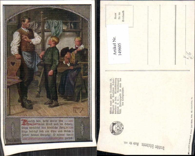 149605,Dt Schulverein 802 F. Kuderna Deutsch sein heisst