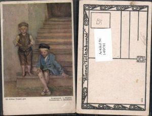 149781,Eduard Adrian Dussek Ausgesperrt Kinder