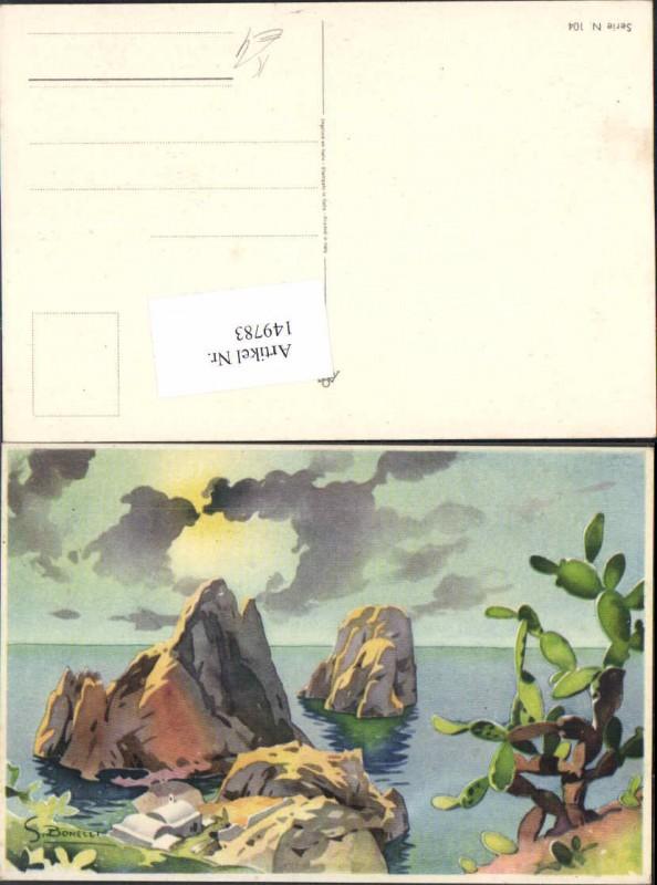 149783,S. Bonelli Künstlerkarte Meer