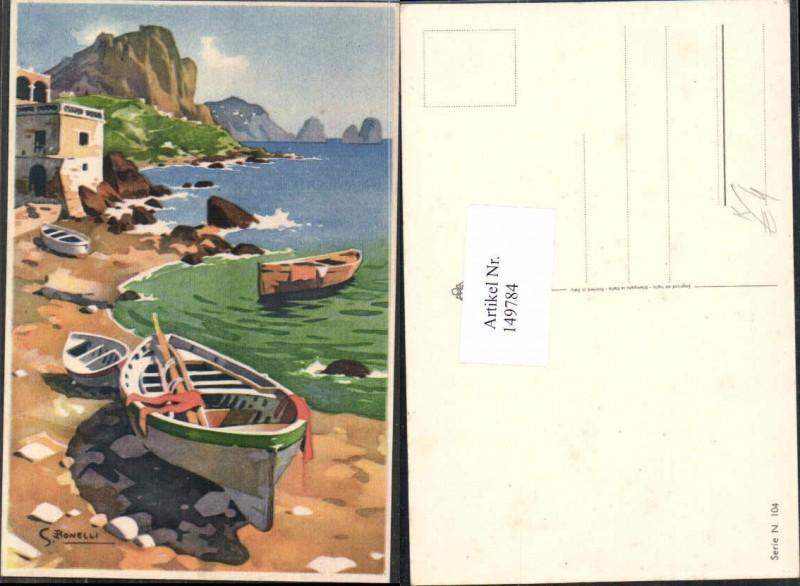 149784,S. Bonelli Künstlerkarte Meer