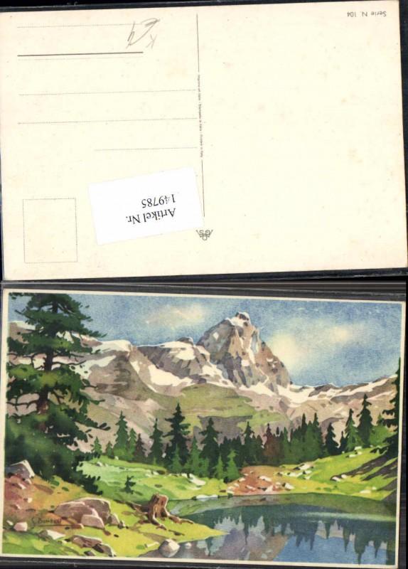 149785,S. Bonelli Künstlerkarte Berge Berglandschaft
