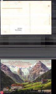 154359,Trentino Trafoi Hotel u. Pension Schönen Aussicht m. Ortlergruppe Ortler Gipfelkarte