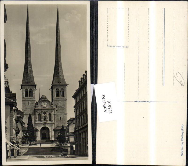 155616,Luzern Hofkirche Sculptures Binder