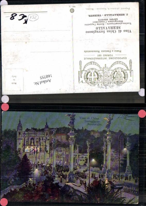 160755,Guerzoni Ponte Fontana Monumentale Serravallo Esposizione Intern. Torino 1911