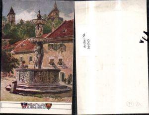 164365,Dt Schulverein Nr Freisach Brunnen sign E F Hofecker