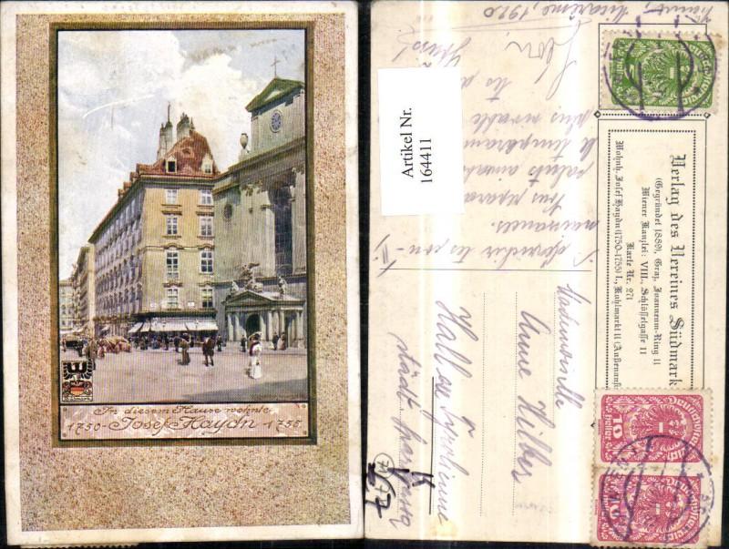 164411,Verein Südmark 271 Wohnhaus Josef Haiden sign Richard Moser