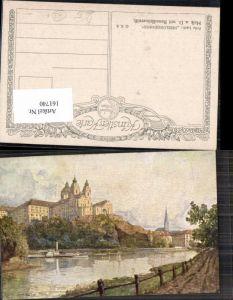 161740,Fritz Lach Melk a.d. Donau Künstlerkarte