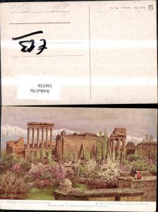 166550,Ba albek Baalbek m. Ost Libanon i. Frühling sign C. Wuttke