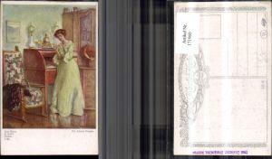 171960,Künstler Ak Der Brief sign Ed. Adrian Dussek