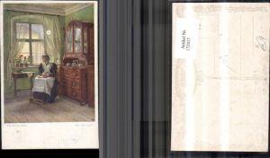 172027,Künstler Ak Karl Zewy gem. Ein stilles Heim alte Frau Fenster